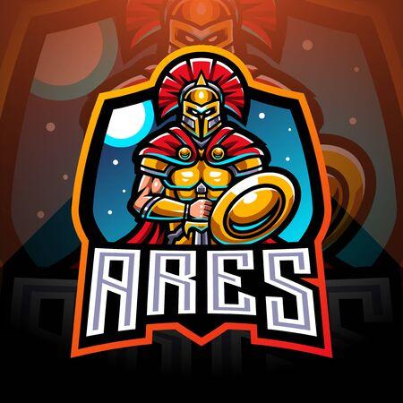 Ares esport mascot logo