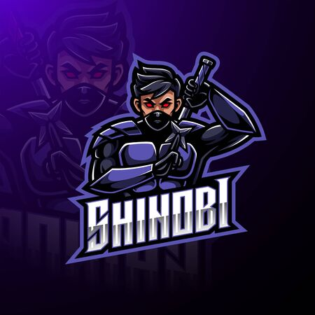 Shinobi esport mascot logo design