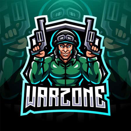 Warzone esport mascot logo design