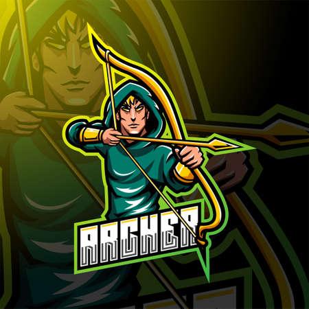Archer esport mascot logo