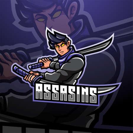 Assassin esport mascot logo design