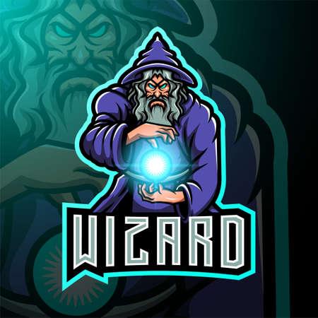 Wizard export mascot illustration