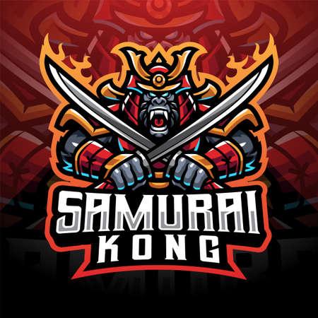 Samurai kong esport mascot