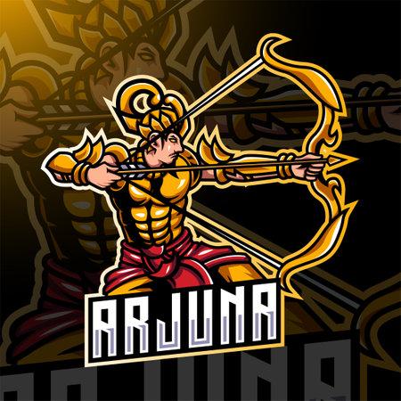 Arjuna archer sport mascot badge