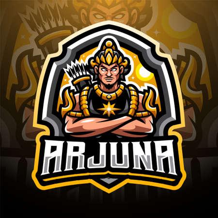 Arjuna sport mascot emblem Ilustración de vector