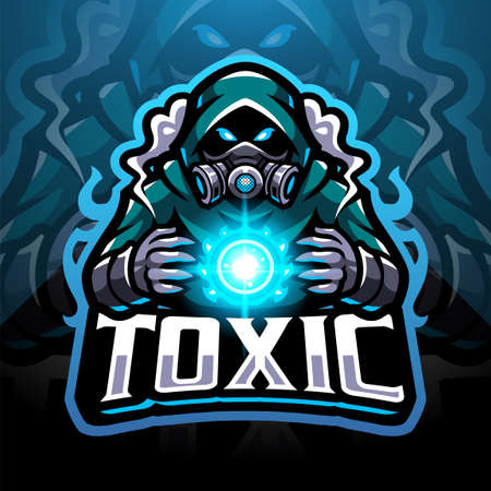 Toxic gas sport mascot emblem