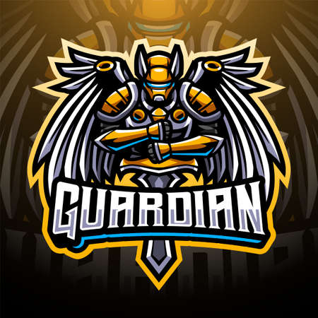 Guardian  sports mascot emblem 矢量图像