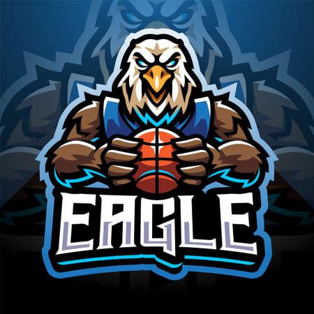 Eagle sport sport mascot emblem 矢量图像