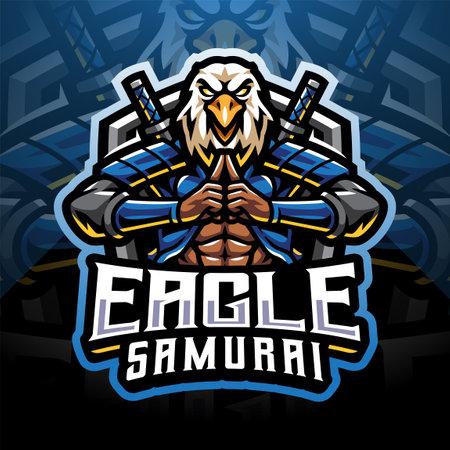 Eagle samurai sport mascot