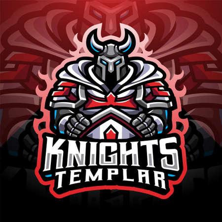 Knights Templar sport mascot 矢量图像