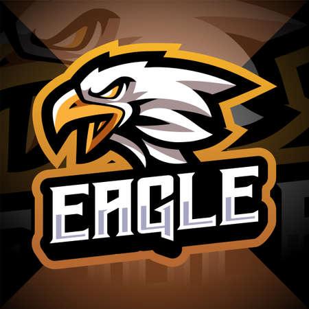 Eagle head esport mascot logo