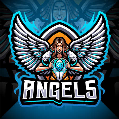 Angels esport mascot design