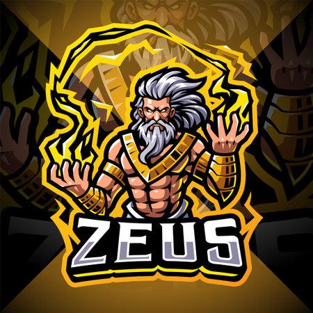Zeus esport mascot logo design