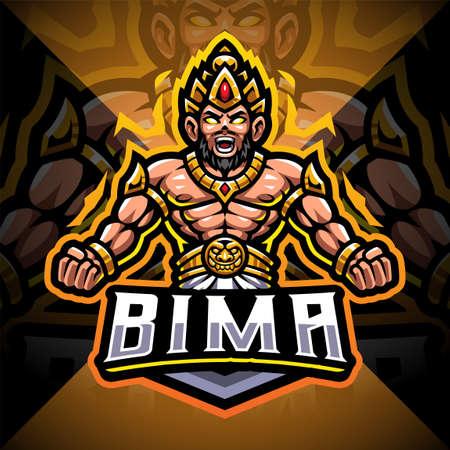 Bima esport mascot logo design Logos
