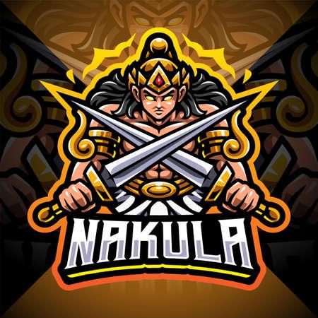 Nakula esport mascot logo design Logos