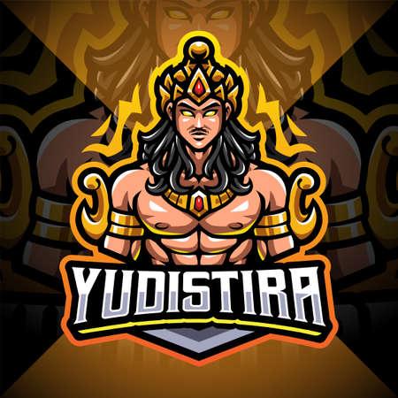 Yudistira esport mascot logo design