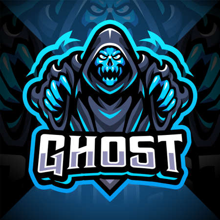 Ghost esport mascot logo design