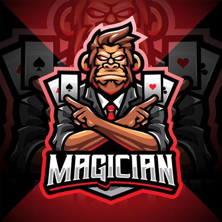 Magic monkey esport mascot logo