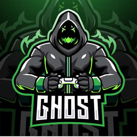 Ghost gaming esport mascot logo design