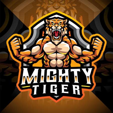 Mighty tigers esport mascot design