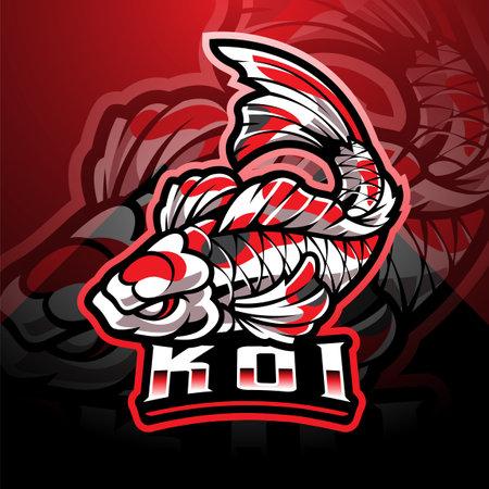Koi fish esport mascot design