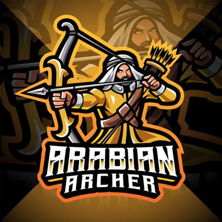 Arabian archer esport mascot logo design