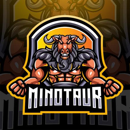 Minotaur esport mascot logo design