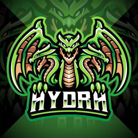 Hydra esport mascot logo design