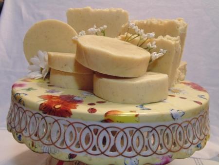 made: hand made soap display Stock Photo