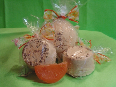 Orange Bath Bombs, Homemade photo