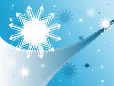 Stylish blue winter background Illustration