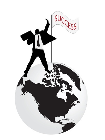 concept of businessman that have success Illustration