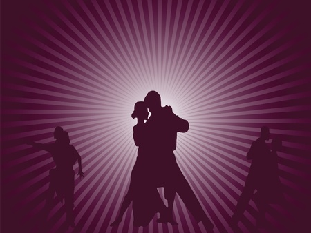 Couples dancing background Illustration