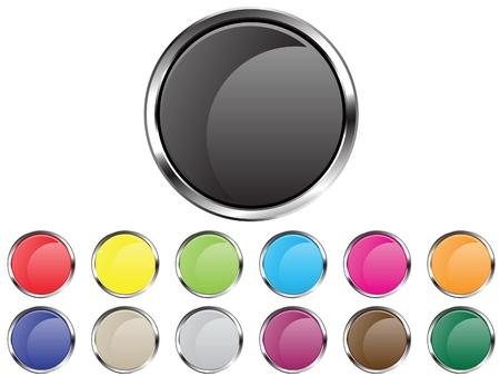 silver circle: Vector pulsante circoli Vettoriali