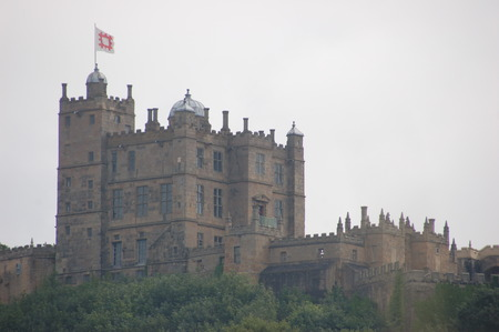 scheduled: Bolsover Castle - August 24th, 2015 - Striking Bolsover Castle in a grey sky Editorial