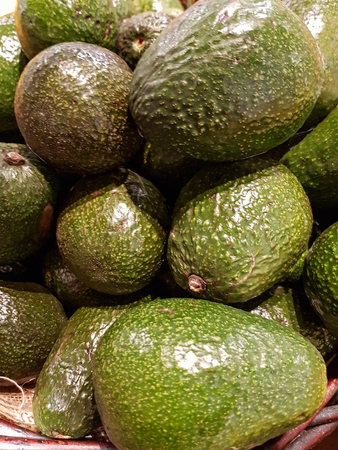 USA, Boston - January 2018 - avocados for sale in a local market Stock Photo