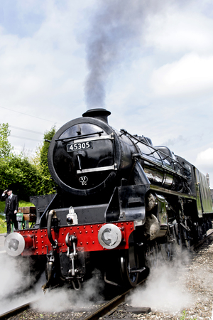 ROTHLEY Great Central  Steam railway, UK - 2015 :  45305 (LMS 5305 & BR 45305) built by Armstrong Whitworth at Newcastle-on-Tyne in 1936. It spent most of its career based in North-West England.