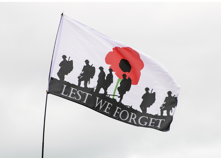 LEICESTERSHIRE,UK - MAY 2015: Flag of rememberance