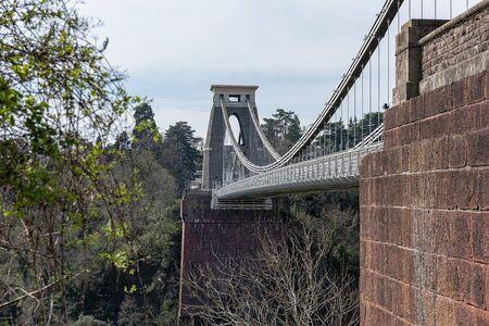 Großbritannien, Bristol, April 2019 - Bristol Hängebrücke über die Avon Gorge