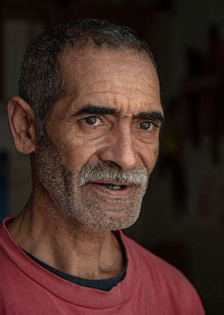 Essaouira, Morocco - September 2017: Moroccan Man, Elderly Carpenter - Portrait, Natural Light