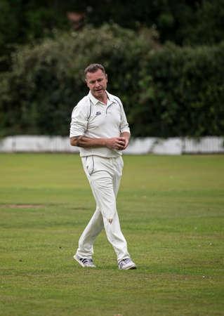LOUGHBOROUGH, UK - July 2017 - Man playing cricket at charity match