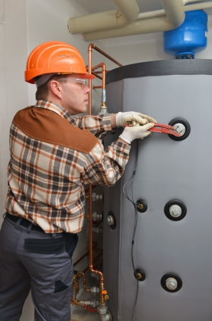 Plumber at Work Imagens