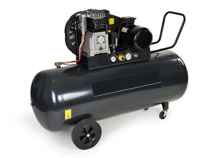 Schwarz Kompressor auf einem weißen Hintergrund Lizenzfreie Bilder
