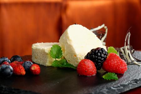 Parfait Dessert with forest berries  photo