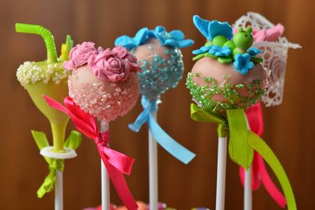 Cupcake cake pops  photo