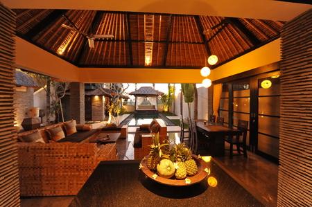 Interieur van luxe tropische villa