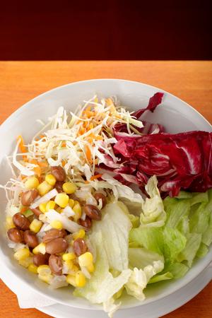 roman beans: mixed salad  Stock Photo