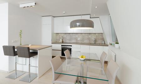 Interior of stylish modern house, kitchen  Stock Photo