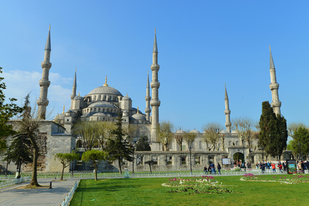 camii: The Blue Mosque, (Sultanahmet Camii), Istanbul, Turkey Stock Photo