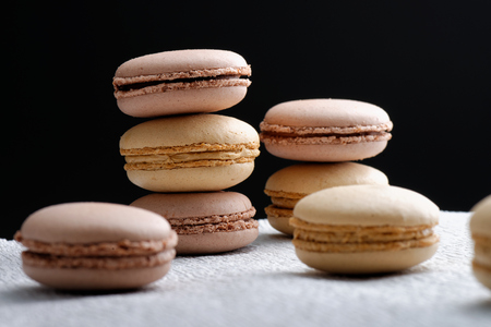 Original French macaroons in Paris photo
